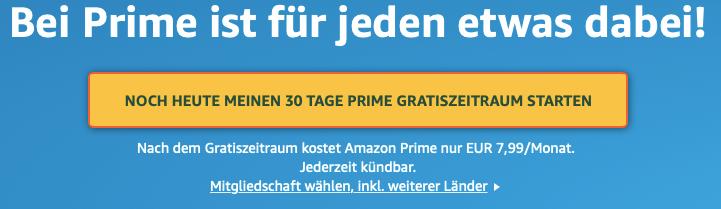 Amazon Prime Probemonat
